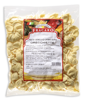 Pastificio Fracaro Arzignano Vicenza - Pasta semola grano duro - orecchiette